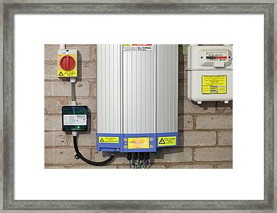 An Inverter For A Solar Panel System Framed Print by Ashley Cooper