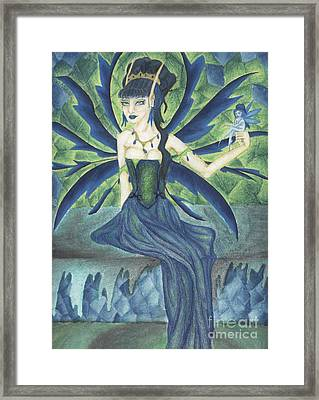 An Ironic Portrait Of Royalty Framed Print by Coriander  Shea