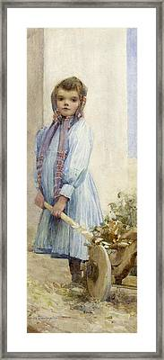 An Italian Peasant Girl Framed Print