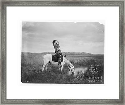 An Oasis In The Badlands Framed Print