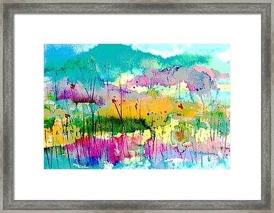 An Oasis In The Desert Framed Print by Hazel Holland
