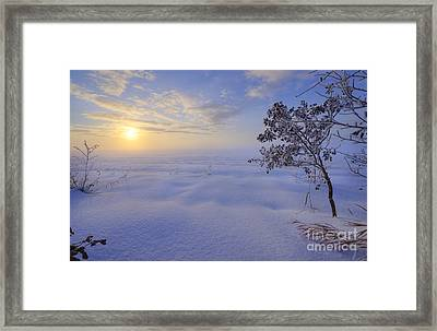 An Ocean Of Snow Framed Print by Dan Jurak