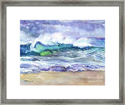 An Ode To The Sea Framed Print