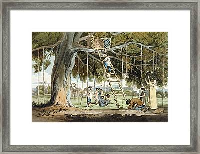 An Offering Of First Fruits To The God Framed Print