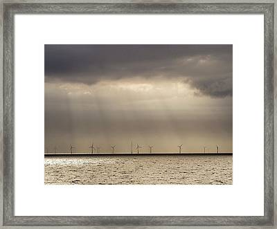 An Offshore Wind Farm In Dutch Waters Framed Print