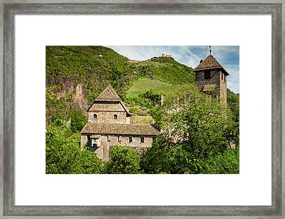 An Old Castle Ruin In Northern Italy Framed Print