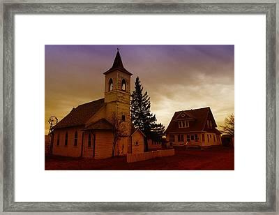 An Old Church In Williston North Dakota  Framed Print by Jeff Swan