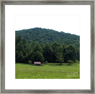 An Old Country Shack Framed Print by Eva Thomas