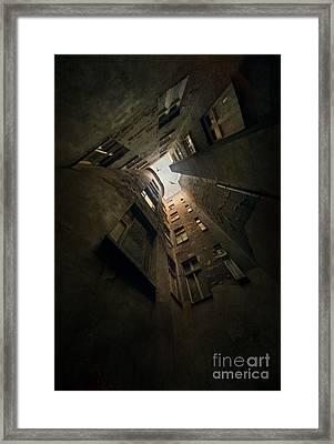 An Old Courtyard Framed Print by Jaroslaw Blaminsky