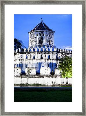 An Old Fortress On The Side Of The Chao Framed Print by Micah Wright