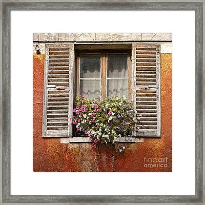 An Old French Window Framed Print