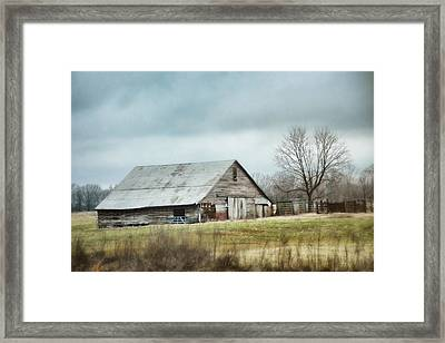An Old Gray Barn Framed Print