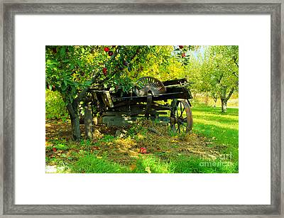 An Old Harvest Wagon Framed Print by Jeff Swan