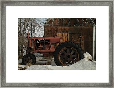 An Old John Deer Framed Print by Jeff Swan