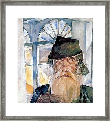 An Old Man From Olonets Framed Print by Celestial Images