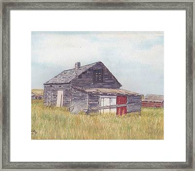An Old Memory Home In The Grand Prairies Framed Print