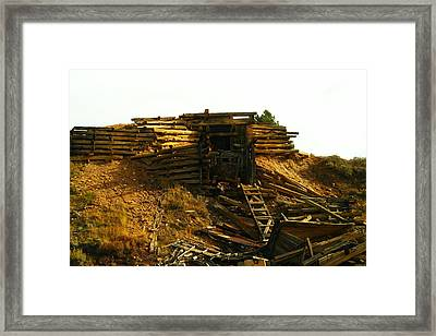 An Old Mine Entrance In Leadville Colorado  Framed Print by Jeff Swan