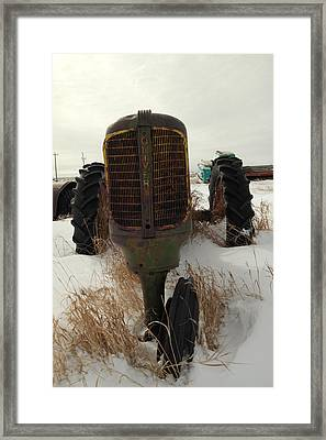 An Old Oliver Tractor Framed Print by Jeff Swan