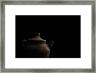 Framed Print featuring the photograph An Old Pot by Marwan Khoury