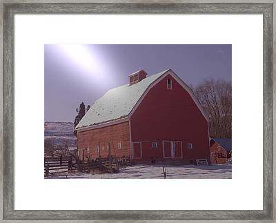 An Old Red Barn  Framed Print by Jeff Swan