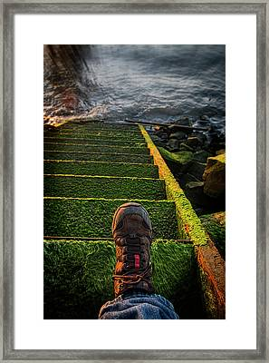 An Old Stairway On The Astoria Framed Print by Robert L. Potts