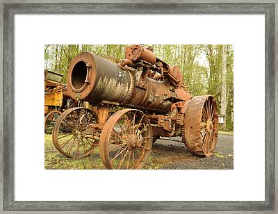 An Old Steam Tractor Framed Print by Jeff Swan