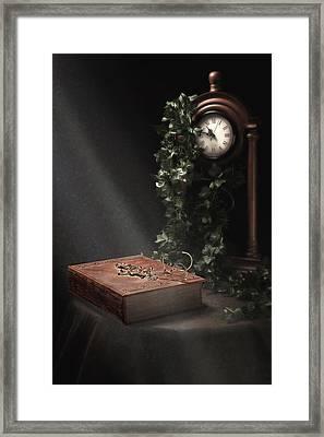 An Old Tome Still Life Framed Print by Tom Mc Nemar