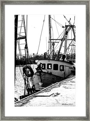 An Old Trawler Framed Print
