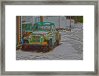 Framed Print featuring the photograph An Old Truck by Timothy Latta