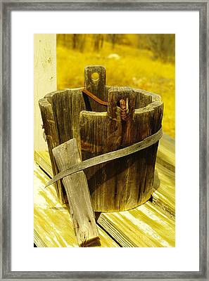 An Old Water Bucket Lincoln City New Mexico Framed Print