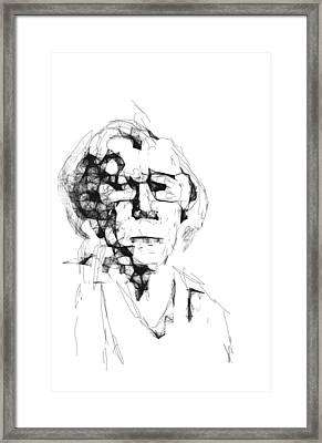 An Old Woman Framed Print
