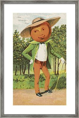 An Orange Man Framed Print by Aged Pixel