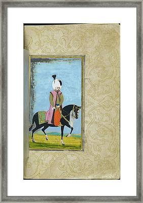 An Ottoman Sultan Or Prince Framed Print by British Library