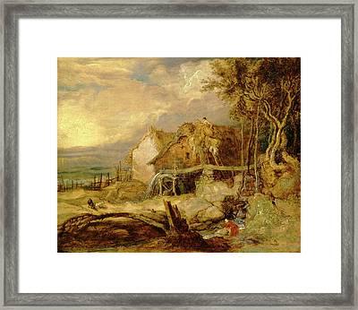 An Overshot Mill, James Ward, 1769-1859 Framed Print