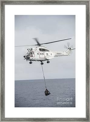 An Sa-330 Puma Transport Helicopter Framed Print