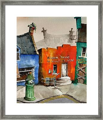 An Siopa Deoch The Drink Shop Framed Print by Val Byrne