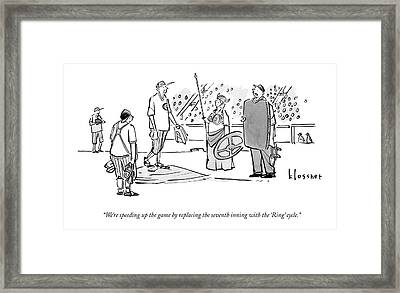 An Umpire At A Baseball Game Presents The Viking Framed Print