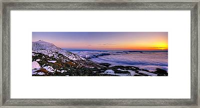 An Undercast Sunset Panorama Framed Print