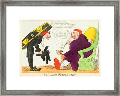 An Undertakers Visit Framed Print