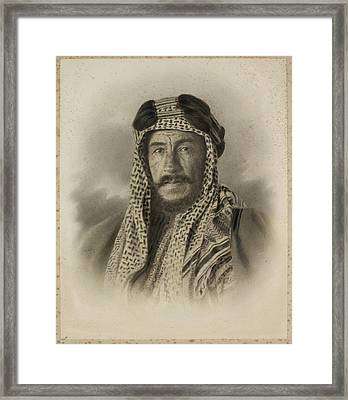 An Unidentified Sheikh Framed Print by British Library