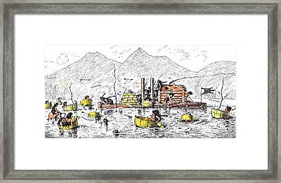 An Unrecorded Naval Engagement In Primeval Times Framed Print