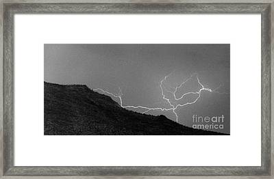 Framed Print featuring the photograph An Uphill Run by J L Woody Wooden
