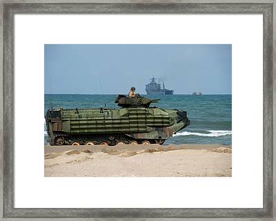 An U.s. Marine Corps Amphibious Assault Framed Print by Stocktrek Images