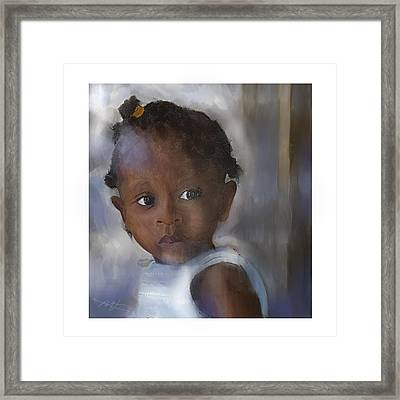 Framed Print featuring the painting Ana  by Bob Salo