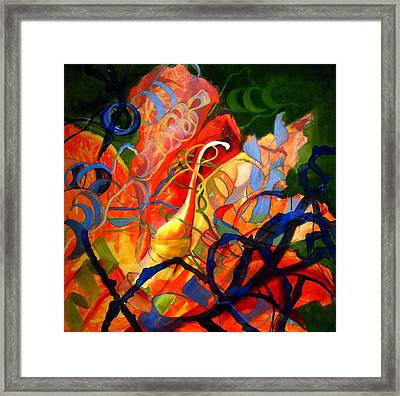 Anatomy Of An Orange Lily Framed Print