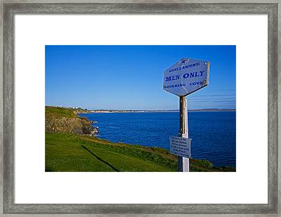 Anachronistic Sign, Guillamene Swimming Framed Print