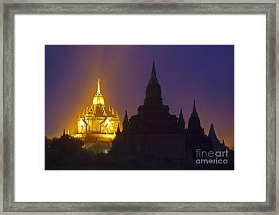 Anada Temple Bagan Myanmar Framed Print