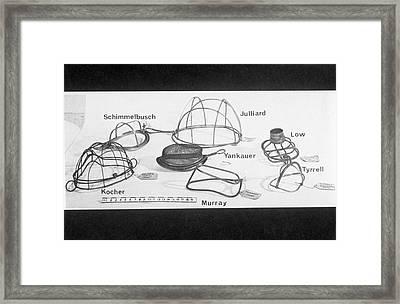 Anaesthesia Masks Framed Print
