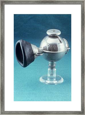 Anaesthetic Ether Inhaler Framed Print by Science Photo Library
