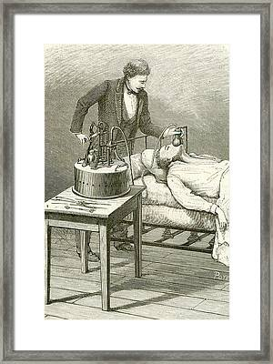 Anaesthetist Administering Chloroform Framed Print by Universal History Archive/uig
